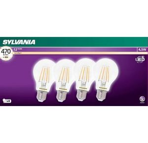 4 Pack 4.5W Sylvania Clear Globes