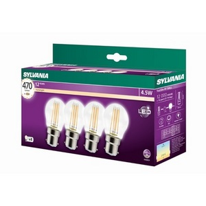 4 Pack 4.5W Sylvania Clear Mini Globes
