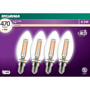 4 Pack 4.5W Sylvania Clear Candles