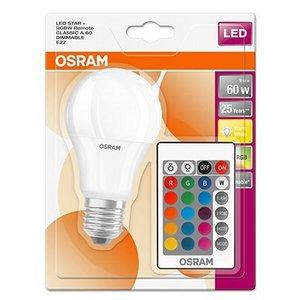 Image of Osram 10w LED GLS E27 RGB With Remote