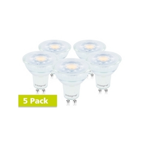 5 Pack 4.7 Watt Glass GU10 LED 2700k Warm White (50w)