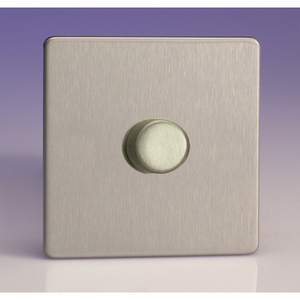 Varilight V-Pro 1 Gang Dimmer - Brushed Steel