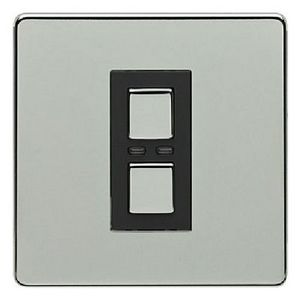 1 Gang Dimmer 250W- Chrome