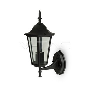 V-TAC Garden Wall Lamp E27 Matt Black Up