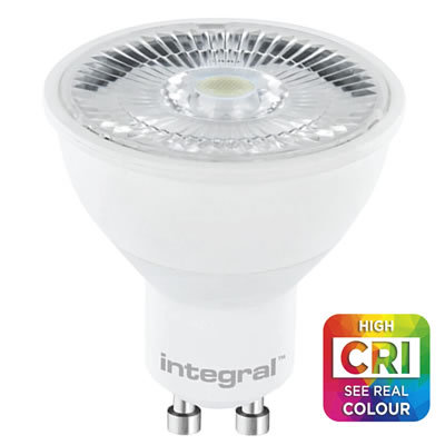7 Watt Cool White 4000k GU10 Real Colour >CRI 95 (57w)