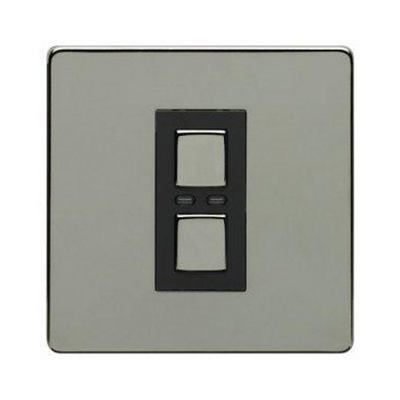 1 Gang Dimmer 250W- Black