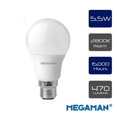 Megaman Classic Opal 5.5w Frosted