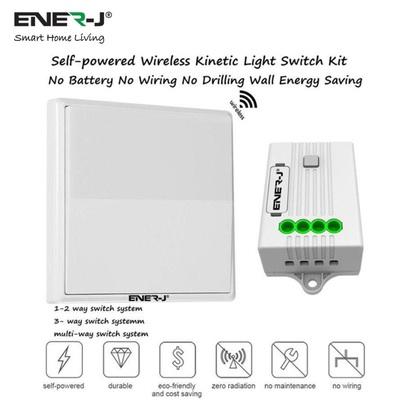 ENER-J Wireless Kinetic Switch White